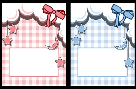 chequered: Template baby greeting card