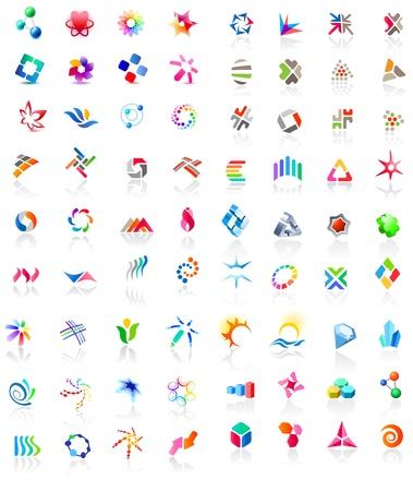 logos negocios: 72 iconos de colores Vectores
