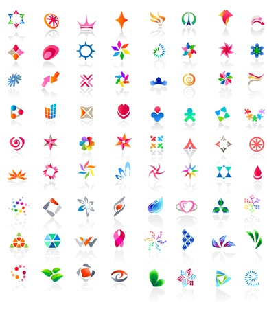 arts symbols: 72 colorful vector icons: (set 2) Illustration