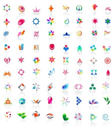 logos empresas: 72 iconos vectoriales de colores: (serie 2) Vectores