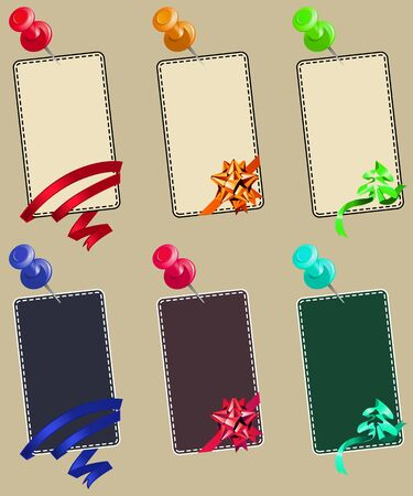 Note papers with pin Vector
