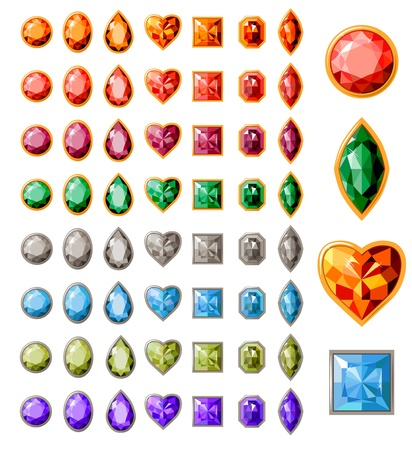 jewel: Collection of different jewels Illustration