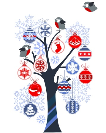 Christmas tree made of balls Stock Vector - 11002762