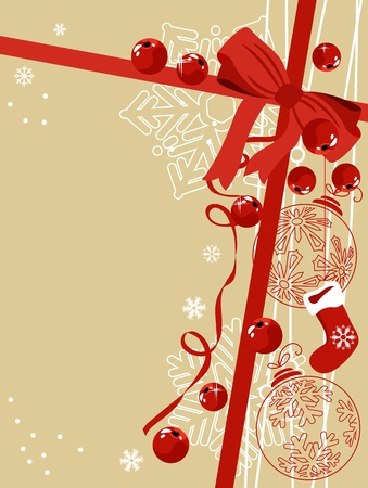 x mas: Background with traditional Christmas symbols