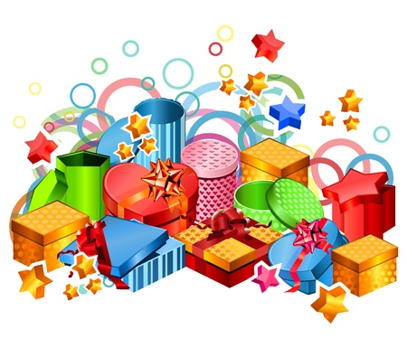 Modern gift boxes Vector