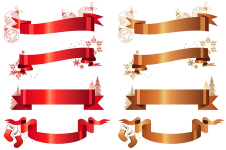 red x: Set of  Christmas banners Illustration