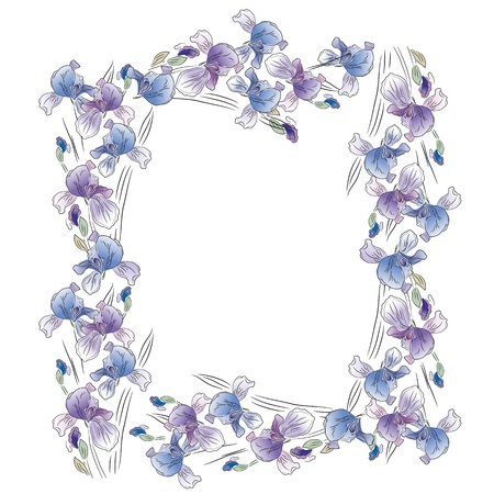 feminity: Frame with irises
