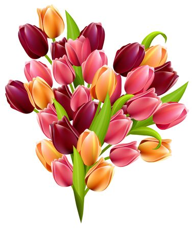 Big realistic bunch of tulips photo