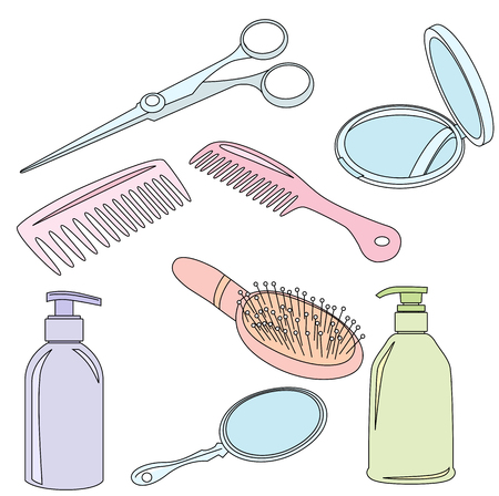 hairdressing accessories: Set Of Hairdressing Accessories