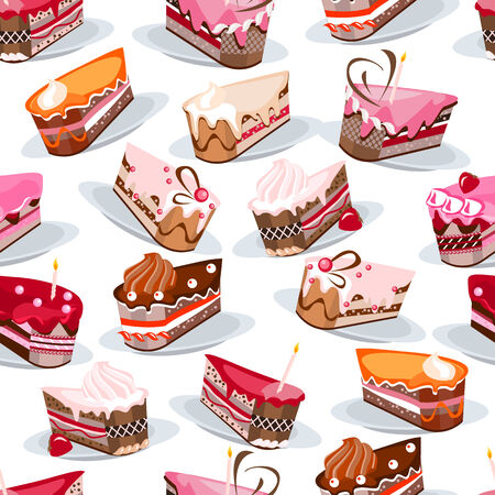 morsel: Seamless pattern with cake slices