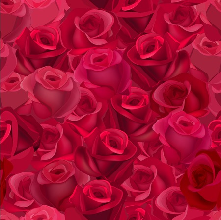 vinous: Seamless pattern with realistic dark roses