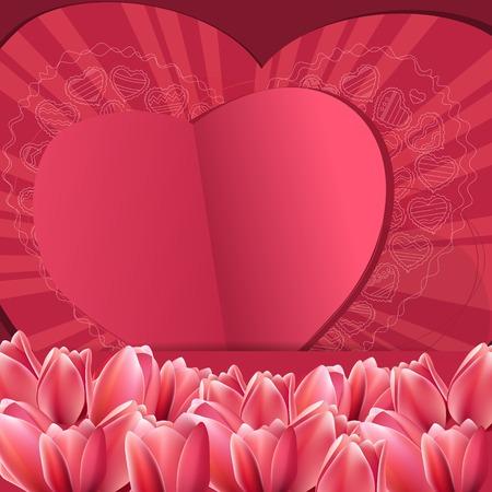 saint valentines: Rosa San Valentino cornice con il cuore di contorno