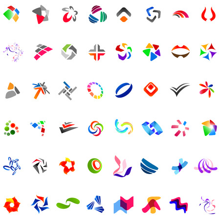 48: Collection of 48 different abstract trendy symbols