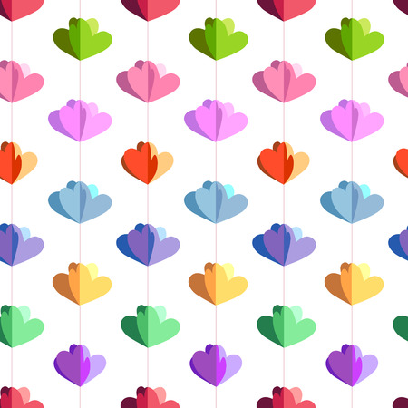 funny pictures: Easter seamless pattern with hanging flowers  cut from paper.  Endless texture for your design, greeting cards, announcements, posters.