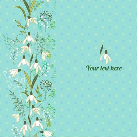 Bloemen lente sjabloon met leuke bossen van muscari. Voor romantische en Pasen ontwerp, aankondigingen, wenskaarten, posters, advertenties.