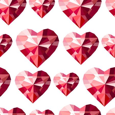 seamless con il cuore di diamante stilizzati. trama senza fine per il vostro disegno, biglietti di auguri romantiche, partecipazioni di nozze, tessuti.