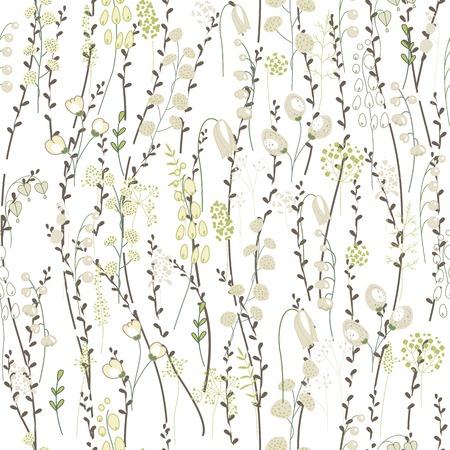Motif de printemps sans couture avec saule chat mignon et stylisé. Texture sans fin pour votre conception, cartes de souhaits, annonces, affiches.