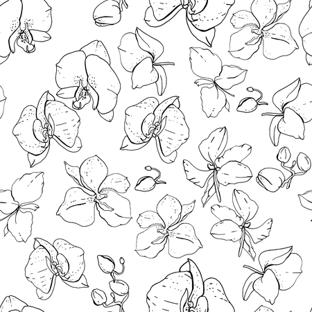 Seamless floral pattern with romantic flowers. Ilustrace