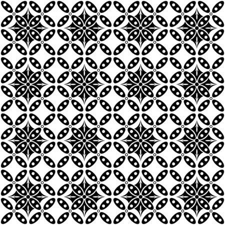 Monochrome pattern batik Illustration