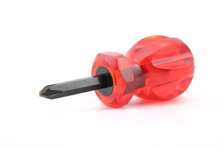 screwdriver with red grasp Stock Photo - 17273076