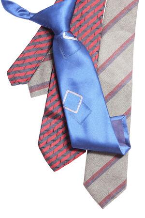 neckties isolated on white background  Stock Photo