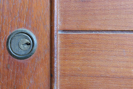keyhole: Keyhole on a cabinet.