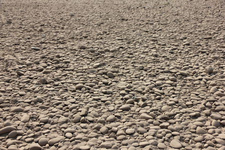 drained: Gravel bed of the river bed