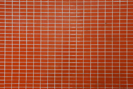 couleur orange: Mur et sol en mosa�que carreaux de couleur orange,