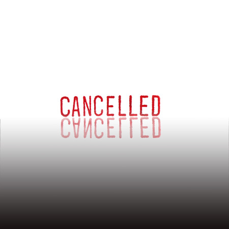 cancelled stamp: CANCELLED - red Rubber Stamp. Stock Photo