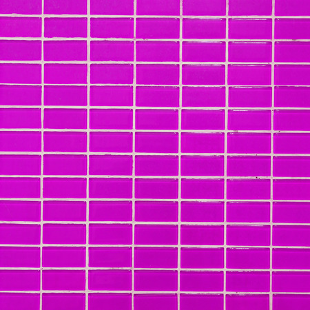 mosaic floor: Wall and floor mosaic tiles pink color Stock Photo