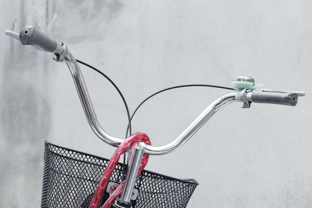 handlebar: Bicycle handlebar with brake.