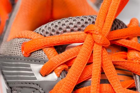 shoelace: Sport shoes, closeup shoelace.