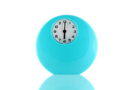 reveille: Alarm clock isolated on white background.