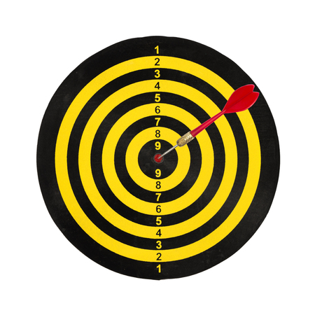 dart target board, abstract of success isolated on white background.