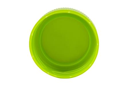 白い背景に分離されたペットボトル キャップ 写真素材