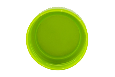 흰 배경에 고립 된 플라스틱 병 뚜껑