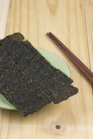 Sheet of dried seaweed - Crispy seaweed Stock fotó