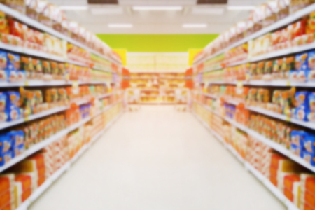 Blur image of supermarket, abstract background