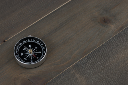 compass on the wood table