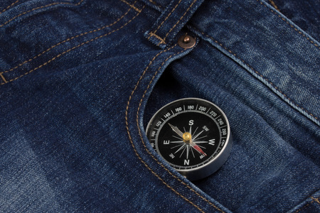 compass with denim jeans