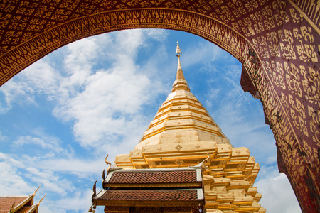 Wat Phra That Doi Suthep at Chiang Mai, Thailand. Stok Fotoğraf