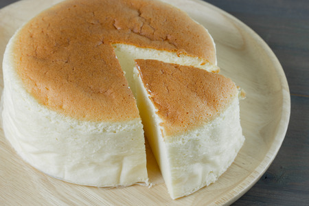 Homemade cheesecake, healthy summer dessert pie cheesecake 免版税图像