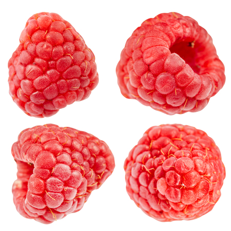 raspberry isolated on white background - clipping path Stockfoto