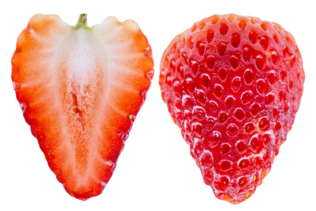 strawberry isolated on white background - clipping paths