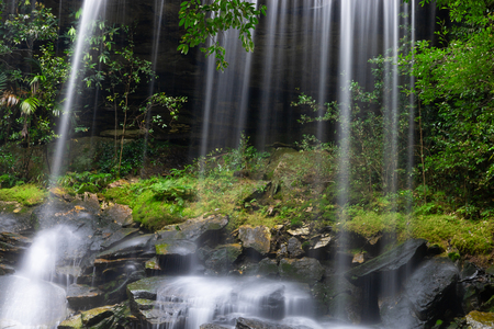Beautiful waterfall landscape. Waterfall in forest at phukradung national park in loei province asia southeast asia Thailand