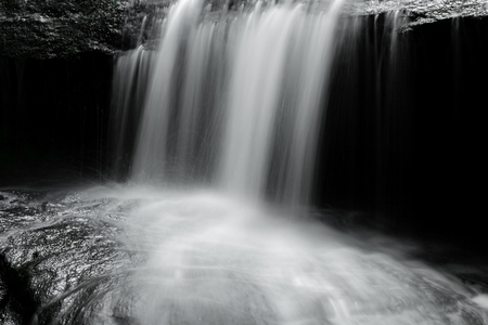 close-up of a waterfalls