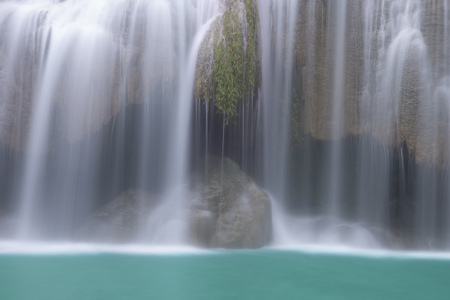Beautiful waterfall - Erawan waterfall at Erawan National Park in Kanchanaburi, Thailand. Stockfoto - 119500725