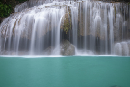 Beautiful waterfall - Erawan waterfall at Erawan National Park in Kanchanaburi, Thailand. Stockfoto - 119504314