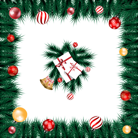 christmas background for decoration on white background Stockfoto - 119504324