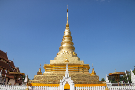 Wat Phra That Chae Haeng an iconic famous temple in Nan the Northern province in the Northern Thailand.